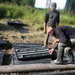 Работы по отбору керна в Коми