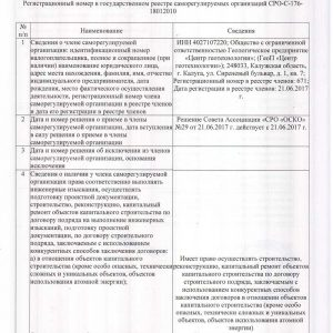 СРО Объединение строителей Калужской области