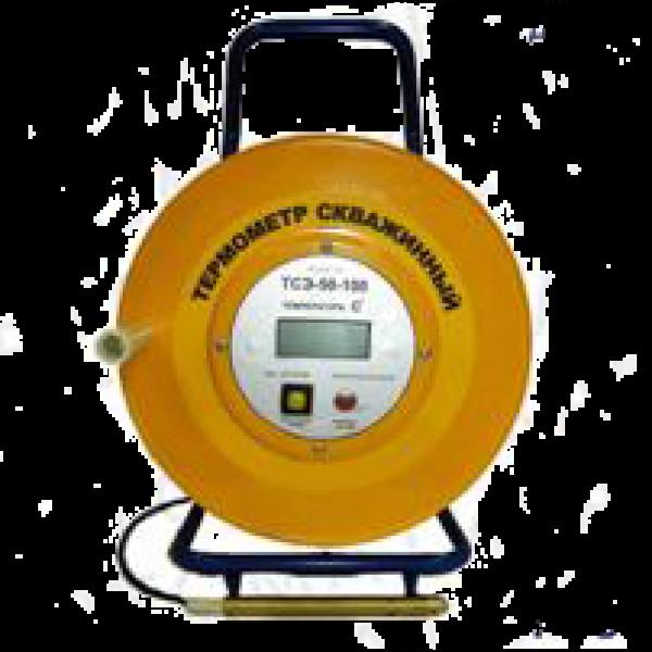 Термометр электронный скважинный на катушке ТСЭм-D-50
